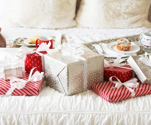 bed, gift, and gifts image