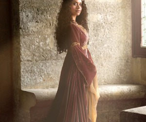 dress, merlin, and guinevere image