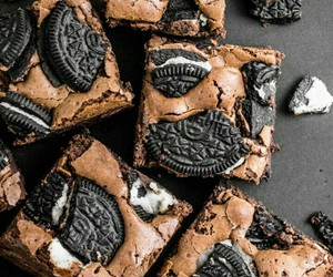 oreo, food, and brownies image
