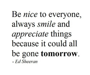 quote, ed sheeran, and smile image