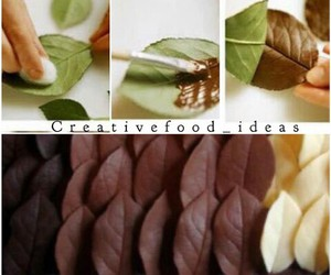 chocolate, food, and leaves image