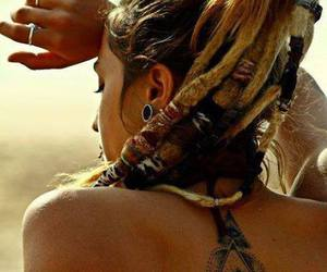 brunette, dreads, and hipster image