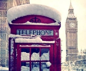 london, red, and snow image