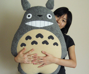 pillow, totoro pillow, and cute image