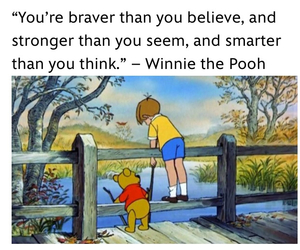 disney, quotes, and winnie pooh image