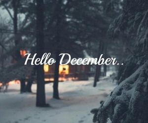 december, snow, and love image