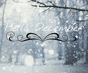december, snow, and hello image