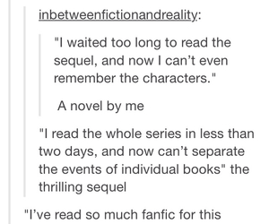 books, tumblr, and fanfics image