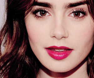 lily collins, eyes, and lips image