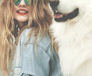 dog, barbara palvin, and model image