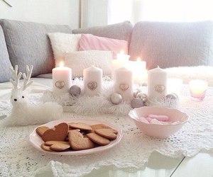 candle, pink, and christmas image