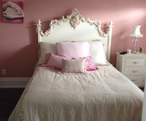 bed, bedroom, and Couture image