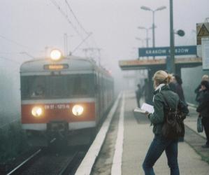 away, girl, and train image