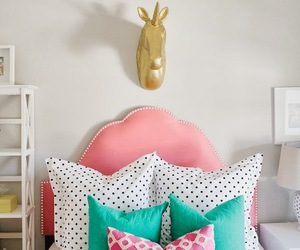 bedroom, design, and pillow image