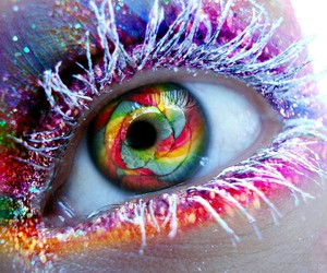 colors, yeux, and maquillage image