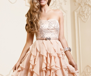 dress, girl, and pink image