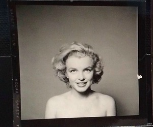 blach and white, picture, and marilyn image