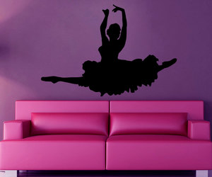 girl room decor, ballet wall decals, and ballerina decals image