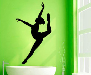 ballet studio, ballerina decals, and dance wall decals image