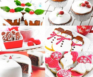 biscuits, cake, and christmas image