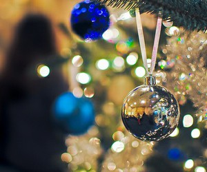 christmas, light, and blue image
