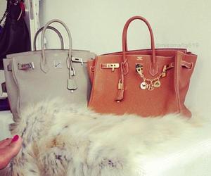 beige, brown, and hermes bag image