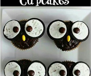 black, cupcakes, and sweet image