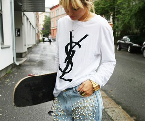 girl, YSL, and blonde image