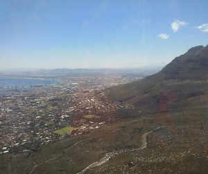 cable car, table mountain, and cape town image