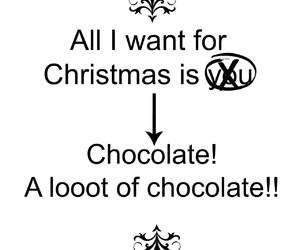 chocolate, funny, and christmas image