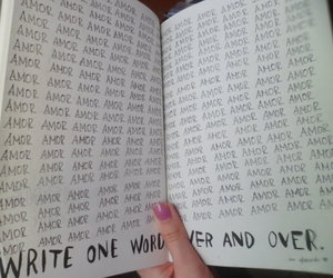 amor, wreck this journal, and spanish word image