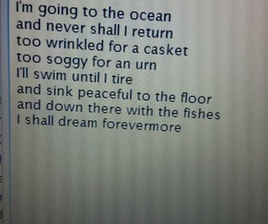 poem, sad, and sea image