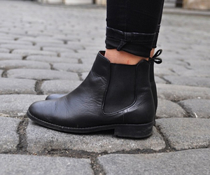 black, boots, and leather image