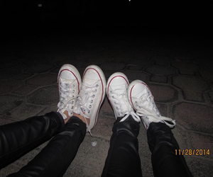 black, convers, and friend image