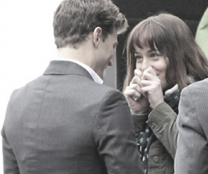 Jamie Dornan, dakota johnson, and fifty shades of grey image
