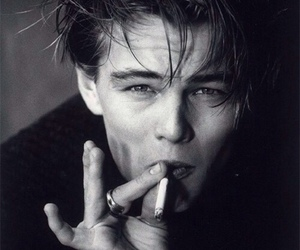 leonardo dicaprio, smoke, and boy image