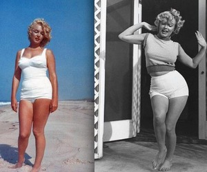 Marilyn Monroe, beautiful, and curves image