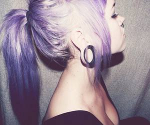 pretty and purple hair image