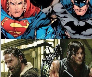 the walking dead, rick, and batman image