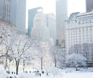 winter, snow, and city image