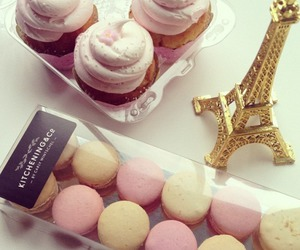 paris, food, and cupcake image