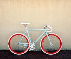 bike, cute, and blue image
