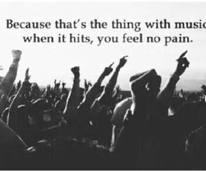 music, pain, and quote image