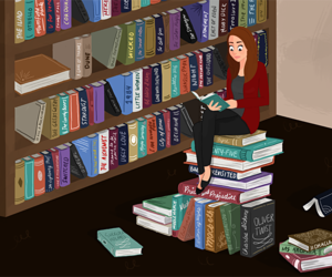 books, library, and read image