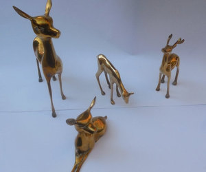 brass, reindeer, and christmas decorations image
