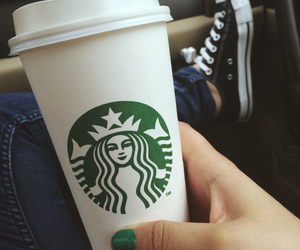 coffee, nails, and converse image