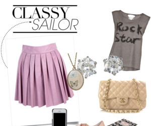 classy, purse, and skirt image