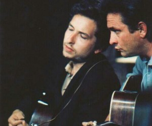 bob dylan, Johnny Cash, and music image