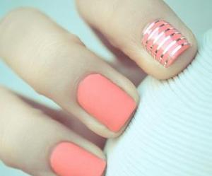 nail art, nice, and pink image