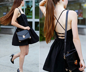 black, summer, and dress image